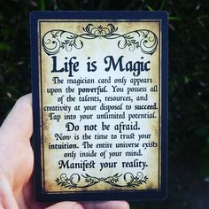 Do Not Be Afraid, Trust Yourself, Intuition, The Magicians, Magick, Don't Forget, Tie, Cards, Instagram