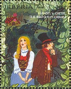 Hansel nd Gretel  --  literature for children - Liberia stamp 1998