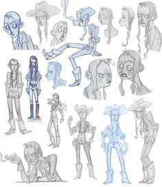 Margaux Kindhauser - Character Design Page