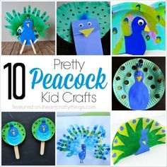 10 Pretty Peacock Crafts for Kids