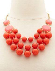 Layered Bubble Bib Necklace: Charlotte Russe