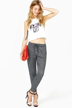 Shop pants, leggings, pants & more—Nasty Gal's got all the best new bottoms, especially for yours. Sweatpants Style, Sweat Pants, Comfort Zone, Nasty Gal, Activewear, Places, Fitness, Closet, Fashion