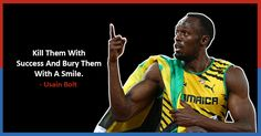 Usain Bolt: These Quotes By The Real-Life Flash Will Make You Work Hard Towards Success Best Quotes, Life Quotes, Awesome Quotes, Usain Bolt Quotes, Usain Bolt Running, Cristiano Ronaldo Quotes, Athlete Quotes, Determination Quotes, Track Quotes