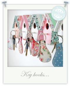 Blog » Bird House Key Hooks