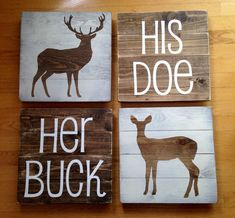 Her Buck His Doe Their Fawn wall decor/ by TheSimpleSparrowDLB