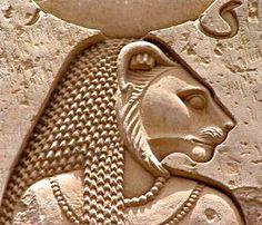 Sekhmet, the lion-headed goddess of war, Sekhmet Temple, Karnak, Egypt.: