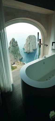 Capri, Italy. View of Faraglioni Rocks