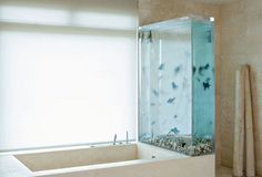 modern-bathroom-aquarium @Hansgrohe USA #BathroomDreams