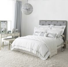 grey and white bedrooms - Google Search