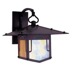"""Arroyo Craftsman Pagoda 1 Light Outdoor Wall Lantern Size: 16"""" H x 17"""" W x 20"""" D, Finish: Mission Brown"""