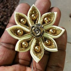 Image of 8 Pearled Kansazhi Star Lapel Pins - Choose Your Color