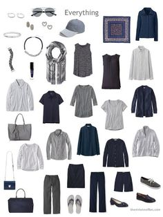 While I continue to wrestle with a brown Neutral Building Blocks capsule wardrobe, I'm still playing around with the navy and grey wardrobe from earlier this week. I realized that (a) we should take a