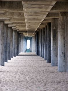 Huntington Beach... under the boardwalk...I want to take an engagement photo under this since our first home together