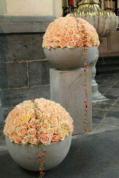 Creative Flower Arrangements, Large Floral Arrangements, Flower Centerpieces, Flower Decorations, Aisle Flowers, Church Flowers, Bridal Flowers, Reception Table Decorations, Wedding Decorations