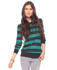Love teal and stripes. Double win.