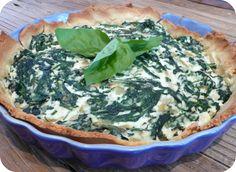 Quiche épinard-ricotta (ig bas). . La recette par Petits plaisirs sans gluten.