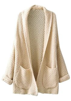 Rolling Cuffs Cardigan - Ultra Comfy Knit Cardigan