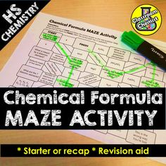 Engage and assess your High School students with this chemical formula maze activity.Topics covered:This will test the student's understanding of the formula of elements, covalent chemicals, ionic compounds, formula containing group (polyatomic) ions and transition metalsHow to use:Students read the...