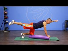Bird Dog Balance with Foam Roller