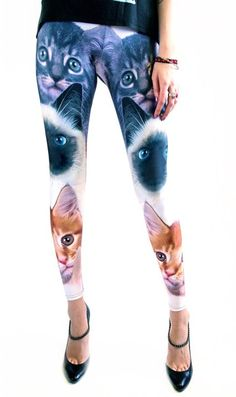 Cat leggings, $75 (I will be pinning of them featured on this site)