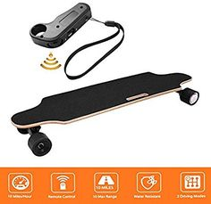 New shaofu Electric Skateboard Youth Electric Longboard Wireless Remote Control, 12 MPH Top Speed, 10 Miles Range, 7 Layers Maple Longboard(US Stock) online shopping - Prettyclothingstyle Rebounder Trampoline, Trampoline Safety, Trampoline Workout, Fantasy Football Championship Belt, Shooting Range Bag, Batting Tee, Urban Bike, 7 Layers