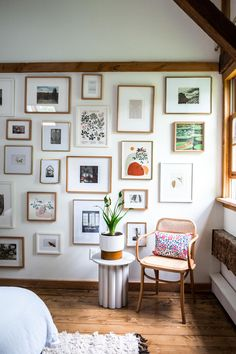 The Hunter Houses: An Epic Gallery Wall Reveal & Our Best Guest Room Advice - Front + Main Guest Bedrooms, Guest Room, Crazy Wallpaper, Penthouse Suite, Best Mattress, Story House, Picture Wall, My Room, Old Houses
