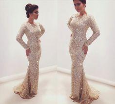 Charming Prom Dress,Long Sleeve Prom Dress,Mermaid Prom Dress,Long