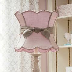Pink Lamp Shade with Sash | Carousel Designs
