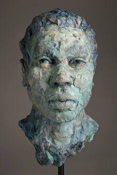 """Saatchi Art Artist Debra Balchen; Sculpture, """"Indigo Man"""" #art"""
