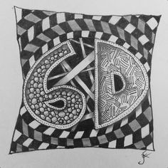 Artwork to become a thank you card for the great staff on 6D (North & South) at GRH.  #zentangling #zentangle #thanks