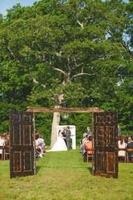 Different Idea/ Twist to an out door wedding