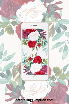 Free Spring floral iPhone Wallpaper