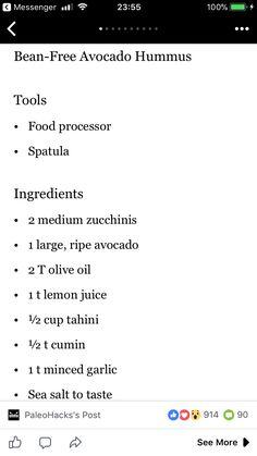 Zucchini avocado hummus