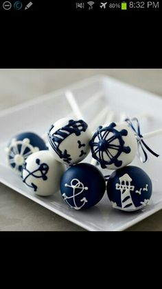 navy/ocean cake pops ooomgosh how adorable are these!!!!!