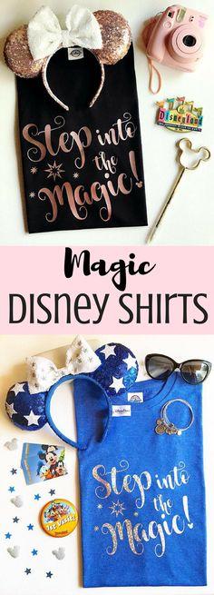 Step into the Magic Disney Shirts   Disneyland Shirt   Disney Obsessed #Ad
