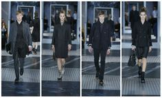 Boy, girl, boy, girl. Prada showed severe men's and women's looks that mirrored one another.