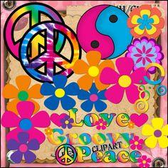 Groovy Peace with Rainbow. Boho Hippie, Hippie Style, Hippie Peace, Happy Hippie, Hippie Love, Hippie Chick, Hippie Art, Hippie Things, Bohemian