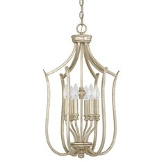 Capital Lighting Fixture Company Bailey Winter Gold Six Light Foyer