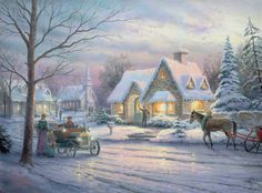Memories of Christmas Thomas Kinkade winter art for sale at Toperfect gallery. Buy the Memories of Christmas Thomas Kinkade winter oil painting in Factory Price. Thomas Kinkade Art, Thomas Kinkade Christmas, Christmas Scenes, Christmas Music, Winter Christmas, Christmas Cross, Christmas Sleighs, Christmas Puzzle, Christmas Carnival