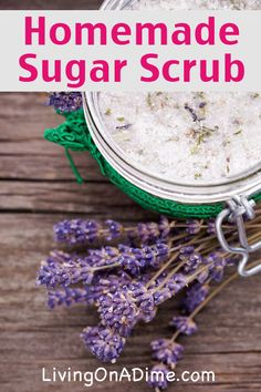 Homemade Sugar Scrub Recipe - Just 2 Ingredients!