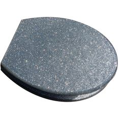 Silver Glitter Toilet Seat. When I have a house I want a girlie bathroom...just for me! : )