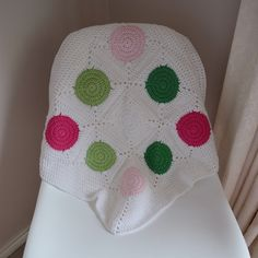 Handarbeit häkeln Komfort/Sicherheit Decke White + bevorzugte Farbkombination | 50 x 50 cm  Diese handgefertigten…