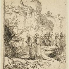 Rembrandt, Christus ten grave gedragen ( B 84 ), 1645. Teylers Museum