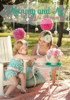 Photos by Kaydee!! Mommy & me mini session! Tea party!!