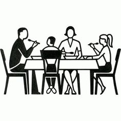 Dinner Table Pictogram Gerd Arntz Web Archive in Fort Church Logo Concepts