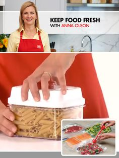 No more frozen dinners! Anna Olson shows you how Kuraidori Vac N Store keeps food fresh, making eating easier! Kitchen Hacks, Kitchen Gadgets, New Kitchen, Anna Olsen, Gadgets And Gizmos, Healthy Eating, Yummy Food, Food Fresh, Dishes