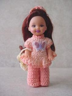 Daywear Crochet Clothes Patterns for Kelly Doll- Crochet Crafts by Helga