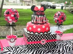 Minnie Mouse and Zebra Print Birthday Party Ideas | Photo 8 of 24 | Catch My Party