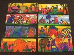 5th grade artists are learning about the life and art of the Austrian artist named Freidrich Hundertwasser. We compared how his ar...