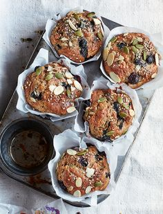 Prep Time: 10 Minutes | Cooking Time: 25 MinutesServes 6-8Make a batch of these muffins on a Sunday afternoon and your future self will thank you, a great on-the-go breakfast to enjoy with a cup of tea that's sure to keep you full until lunch.